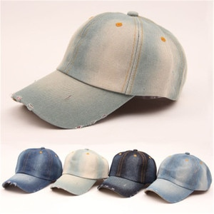 Grinding Vintage Simple Denim Women Baseball Cap Fitted Hip Hop Snapback Fashion Accessories Outdoor-XMC-W6