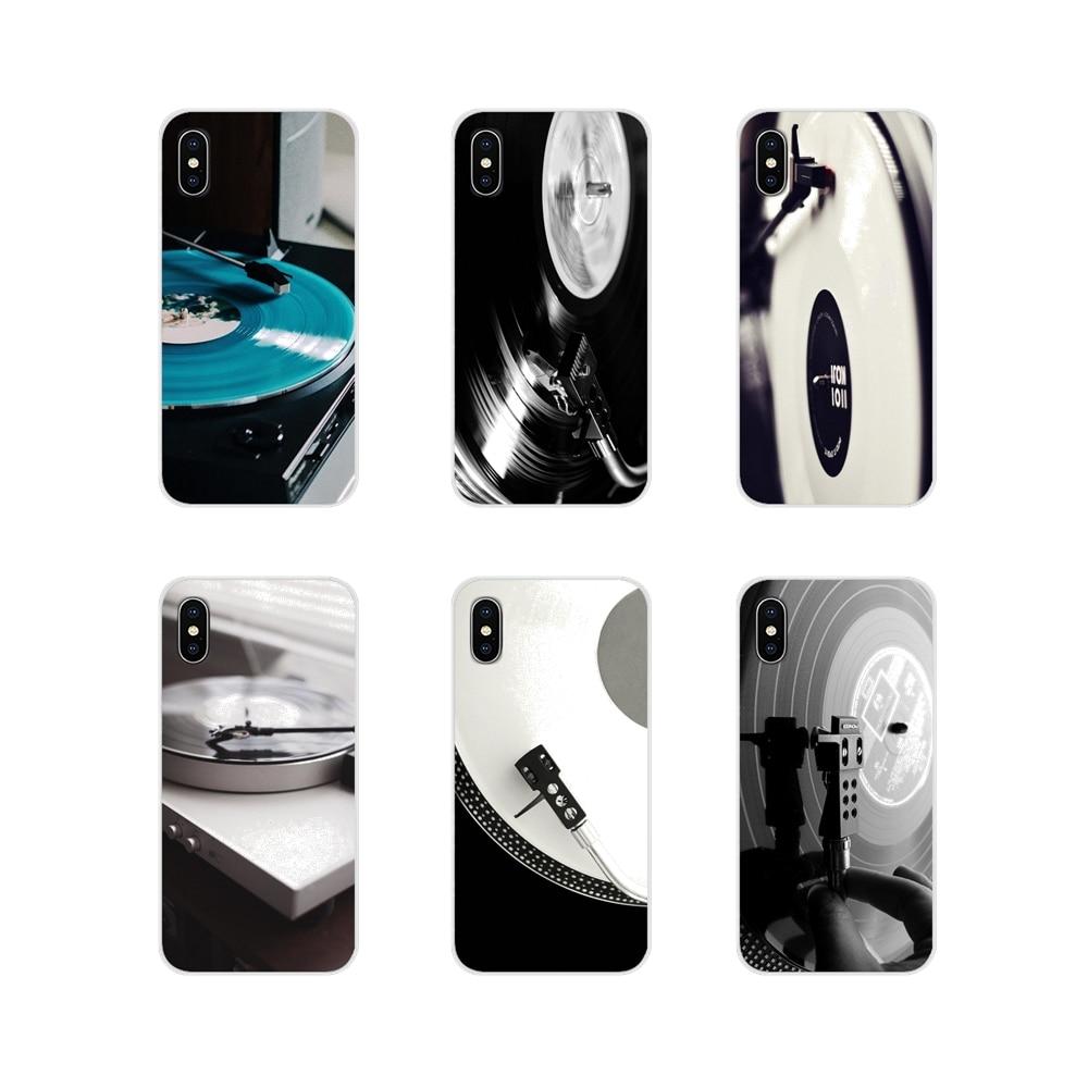 For Oneplus 3 5 6 7 T Pro Nokia 2 3 5 6 8 9 230 2.1 3.1 5.1 7 Plus 2017 2018 TPU Transparent Skin Case Black Vinyl Record Player
