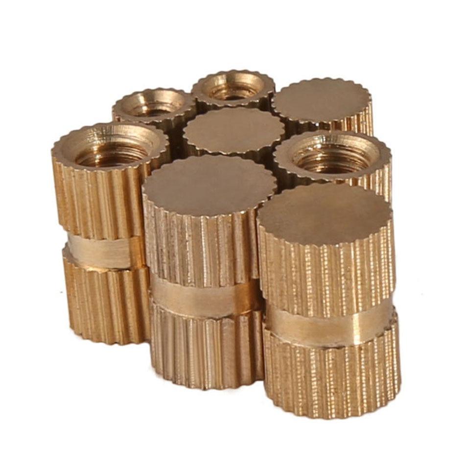 20 piezas M3-M8 tuerca de inserción de bronce TIPO B/agujero ciego moldeado por inyección de latón tuerca moleteada redonda