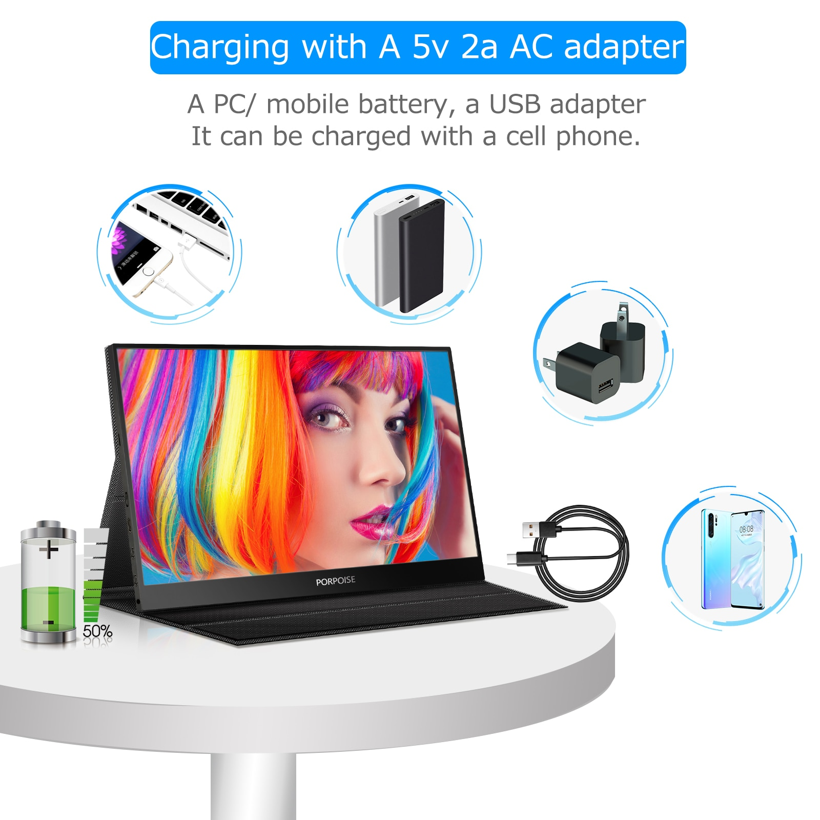 15.6 inch Monitor PC USB TypeC IPS Screen Portable Monitor For Switch Ps4 Xbox Huawei Xiaomi Phone Gaming Laptop LCD Display