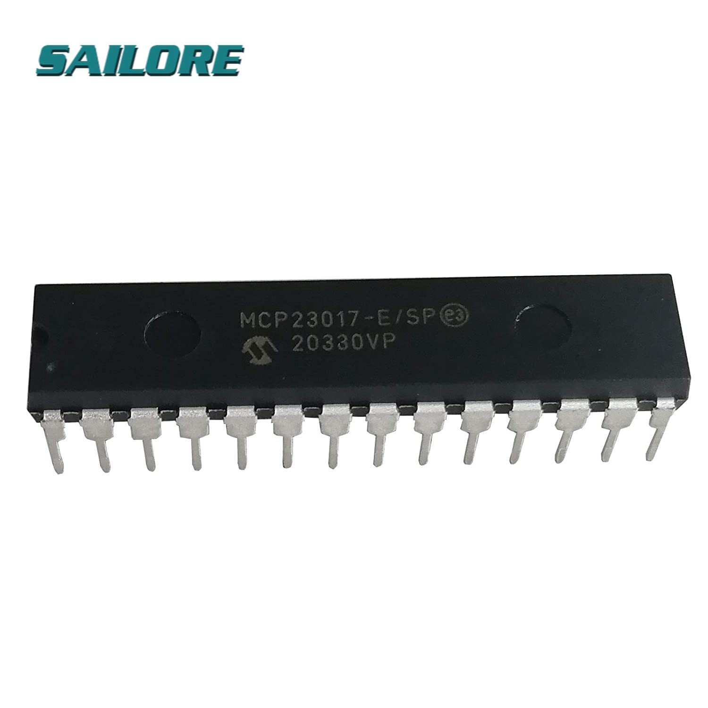 MCP23017-E/SP DIP-28 MCP23017 16-Bit I/O Expander with I2C Interface IC