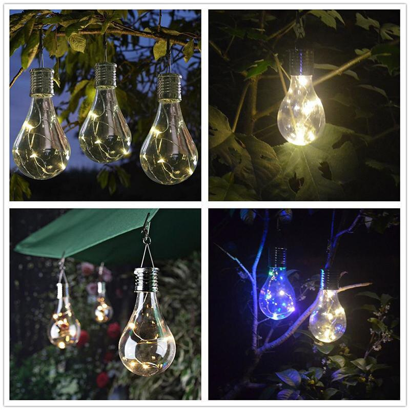 High Solar Power LED Light Bulb Lamp Hanging Decoration Durable For Camping Outdoor Garden UEJ