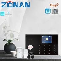 Kit systeme dalarme de securite sans fil  wi-fi  433MHz  Tuya  Gsm  controle avec detecteur de mouvement  11 langues  anti-cambriolage domestique