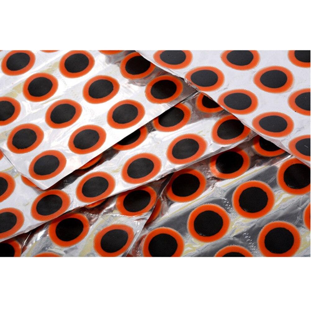 Neumáticos de bicicletas parche punción de mantenimiento de Parche de goma ciclismo Motor parche para bicicleta Kit de Herramientas de reparación 48 uds/hoja
