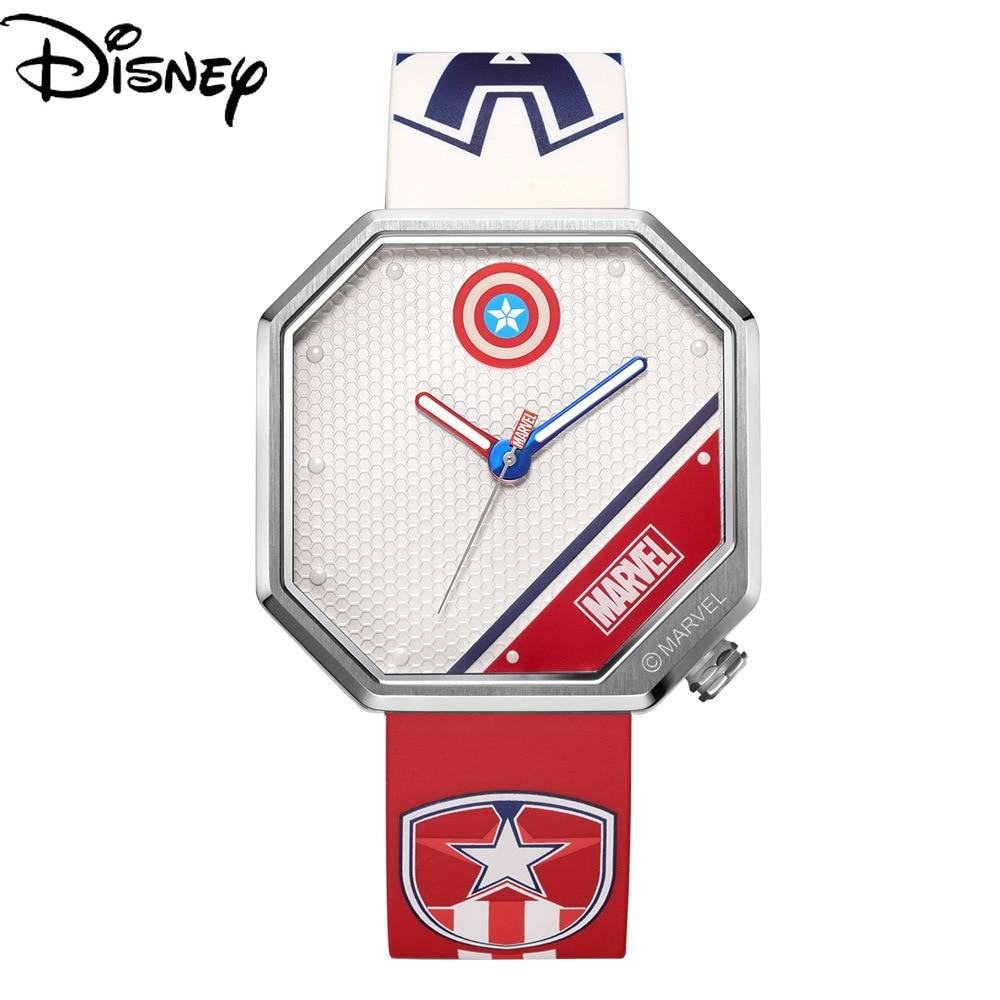 Disney Men's Luminous Quartz New Tape Marvel Watch Casual Trend Personality Waterproof Watch