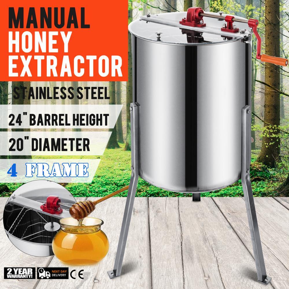 4 quadro Extrator de Mel Tanque Tambor Equipamento De Abelha Colméia de Aço Inoxidável