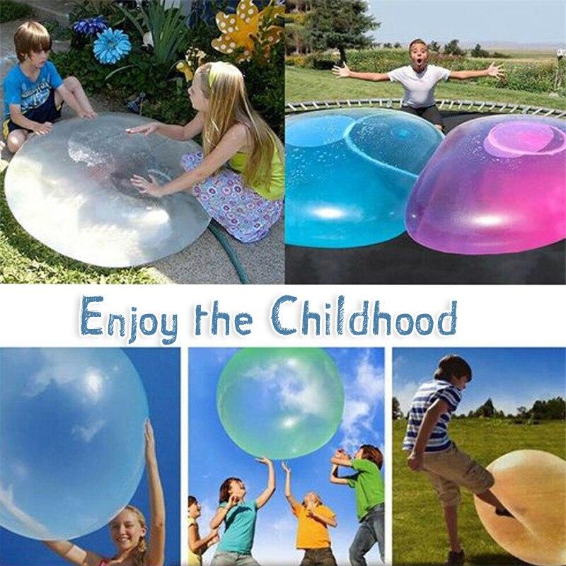 Bola inflável para crianças, brinquedos infantis, presente, ar livre, macio, bola de bolha, inflar, balão para festa, jogo de festa divertido brinquedos, brinquedos