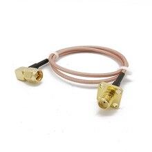 RF Sma гнездо панель крепление к Sma папа правый угол разъем коаксиальный гибкий кабель Rg316 PCB 50 Ом для беспроводной антенны