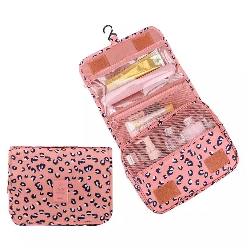 Bolsa de maquillaje multifunción de nailon para mujer, neceser de belleza, funda para juegos de neceser con organizador, neceser de viaje