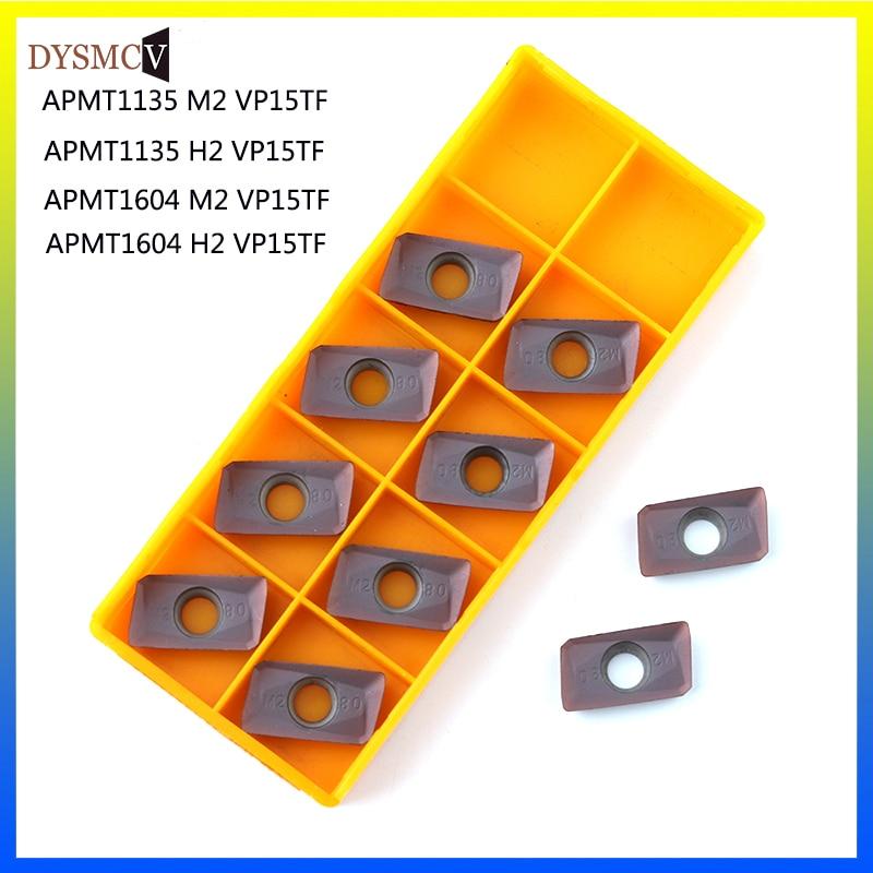 10PCS APMT1604 APMT1135 PDER M2 H2 VP15TF carbide insert milling cutter APMT 1135 APMT1604CNC end mill CNC lathe turning tool