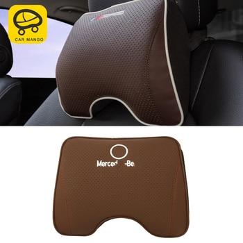 CarManGo for Mercedes Benz A B C E S Class GLA CLA G500 GLE GLC Car Seat Headrest Neck Rest Pillow Cushion Waist Lumbar Supports