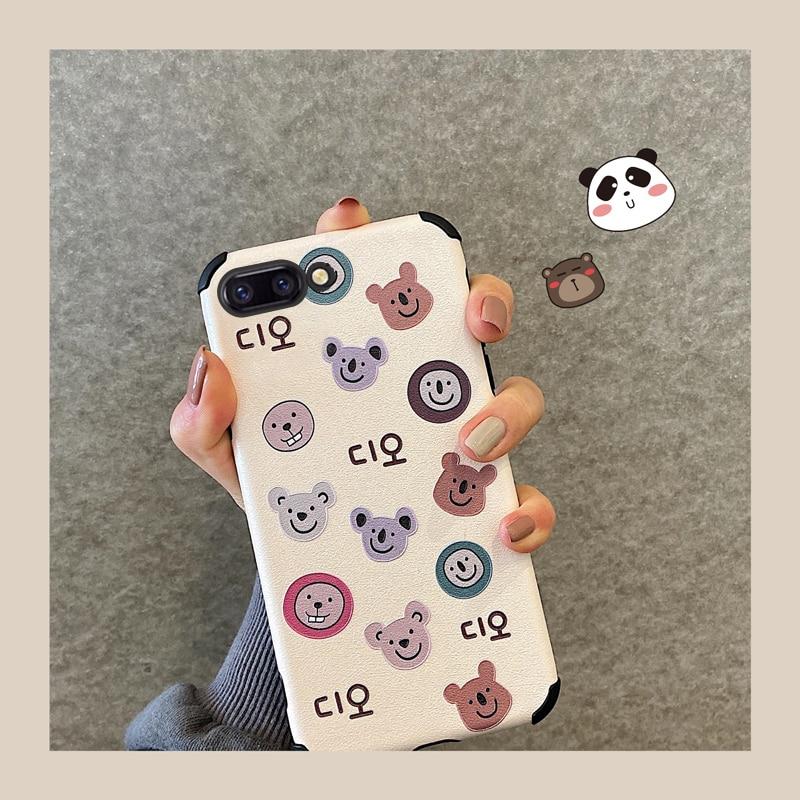 Koala caso de telefone para oppo r11 r11s r15 r15x r17 smartphone dos desenhos animados capa protetora matte para oppo