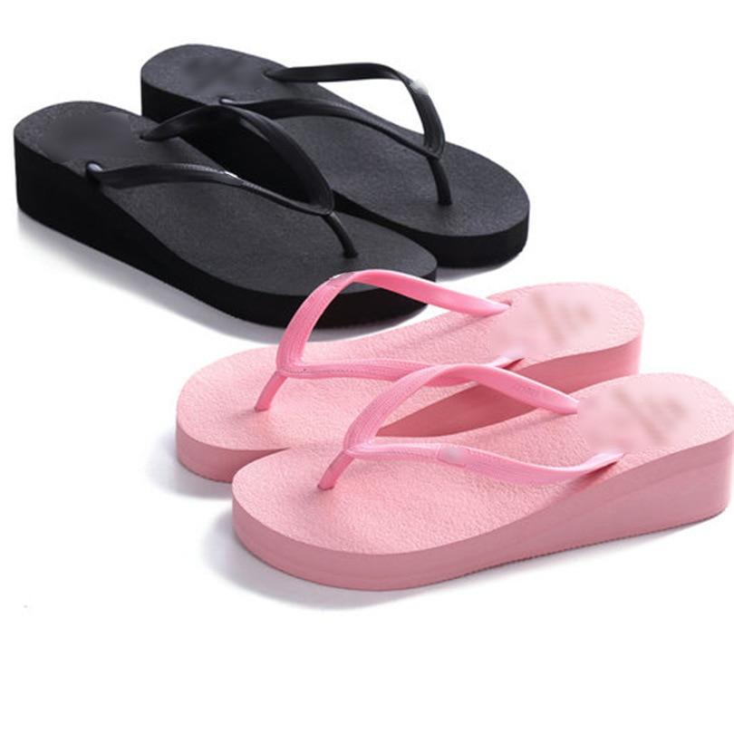 flip flop platform Women Wedge Slippers Female Casual Slides Thick Bottom Ladies Fashion Chic summer slipper sandals