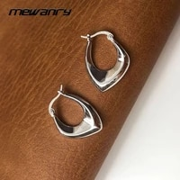 mewanry prevent allergy irregular geometry 925 sterling silver earrings for women fashion elegant party jewelry birthday gifts