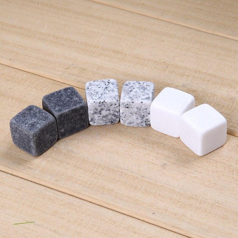 6 unids/set piedras de Whisky naturales... molde de hielo de piedras de...
