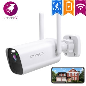 XMARTO BC3 100% Wire-Free Wireless Home Security Camera Powered by Batteries(Rechargeable Long-Lasting , AI Motion Detection)