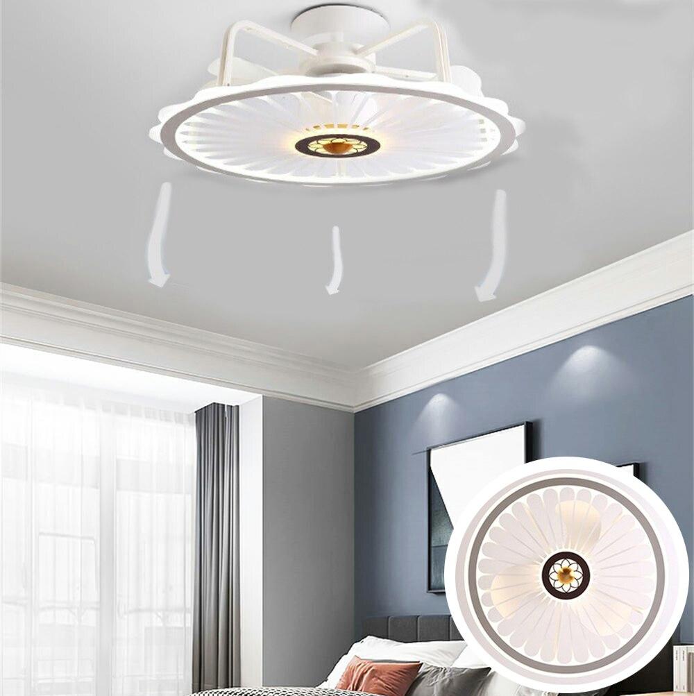 التحكم عن بعد LED مروحة سقف مصباح ليد ذات تصميم حديث الإبداعية مصباح غرفة نوم دراسة الديكور 50 سنتيمتر مع أضواء التحكم عن بعد