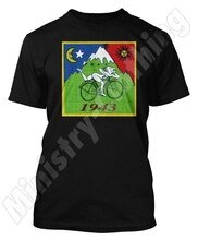 BICYCLE DAY BIKE TRIP LCD ACID TSHIRT DR ALBERT HOFMANN T-SHIRT ACID PARTY DTG3