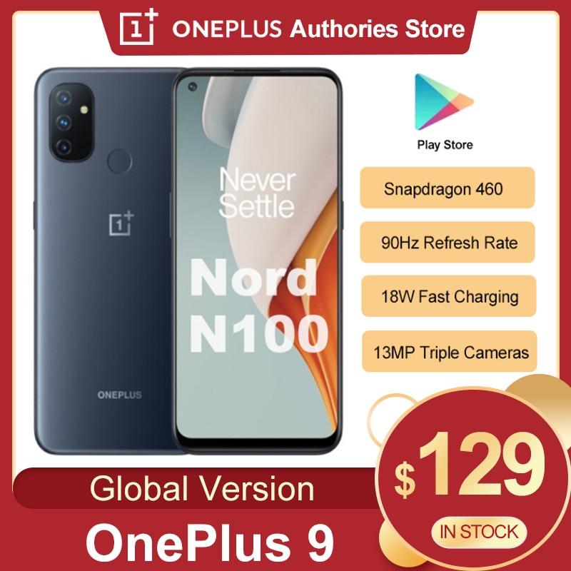 Перейти на Алиэкспресс и купить Глобальный Oneplus Nord N100 4GB 64GB Смартфон Snapdragon 460 5000 мАч Android 10 13MP тройной камеры 20:9 Дисплей мобильный телефон