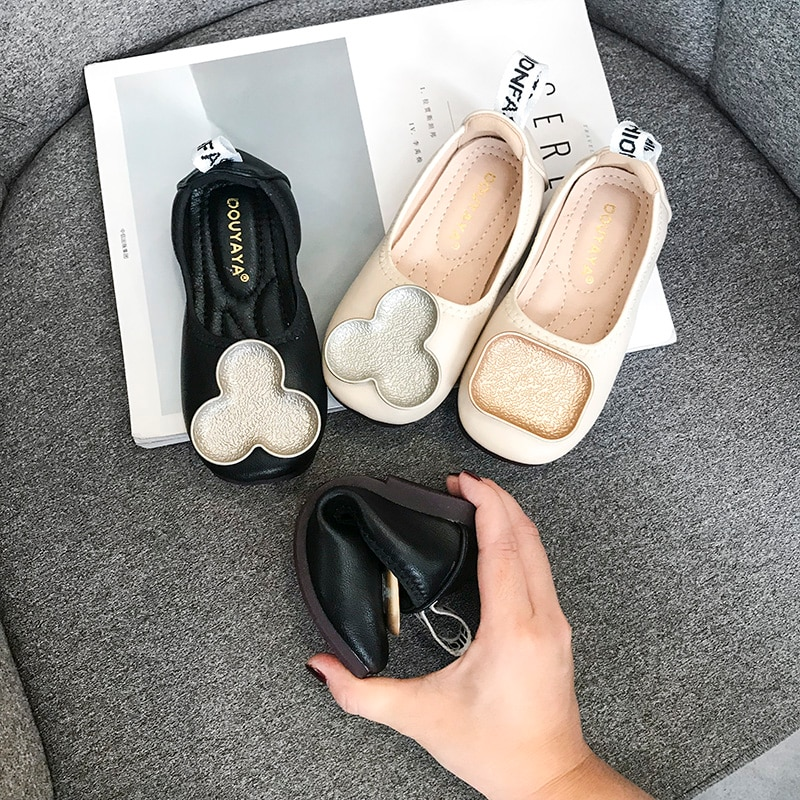 Girls' Shoes Spring and Autumn 2020 New Baby Light 4-12 Years Old Princess Shoes Single Shoes Soft Soled Granny Shoes enlarge