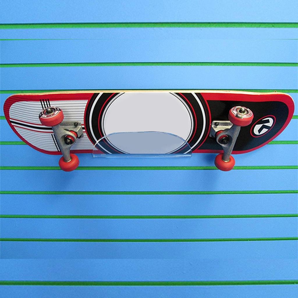 Estante de montaje en pared de monopatín en forma de V acrílico estante de exhibición soporte estante de almacenamiento para patineta eléctrica Longboard