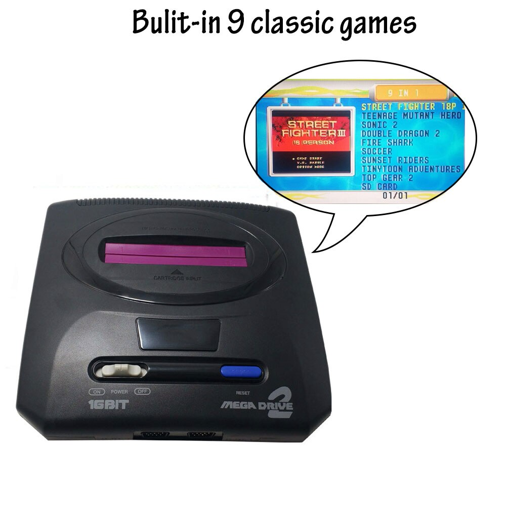 Controlador de Consola de Videojuegos TV Mini Retro para Sega MegaDrive MD2...