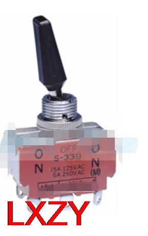 شحن مجاني 2 قطعة/الوحدة S339R S-339R 15A 125VAC تتأرجح التبديل لحظية الثالثة والعتاد