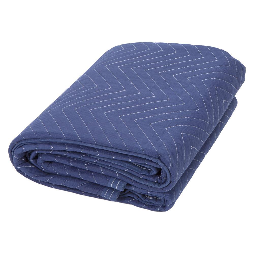 Cobertores de Embalagem em Movimento Almofadas de Móveis de Transporte Azul e Preto Desgastar-resistindo Cobertores Acolchoado 4o