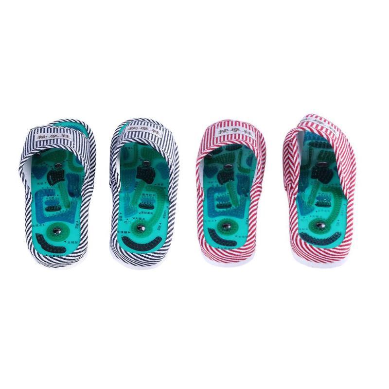 Masaje de acupuntura para pies zapatillas zapato sanitario reflexología magnético sandalias acupuntura sana pies masajeador para tratamiento imán zapatos