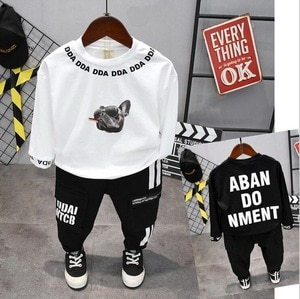 Boy Clothes Fashion Baby Boy Clothing Sets Kid Cartoon T-shirt and pants Trousers Suit for Children Boys Kid Baby Clothing Set