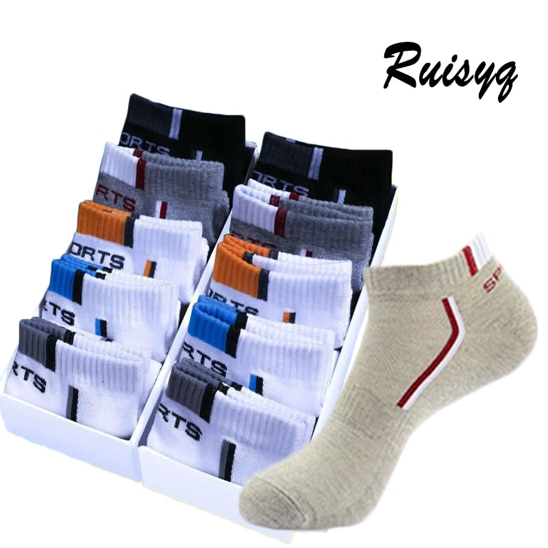 10 Pair High Quality Men Ankle Socks Breathable Cotton Sports Socks Mesh Casual Athletic Summer Thin Cut Short Sokken Size