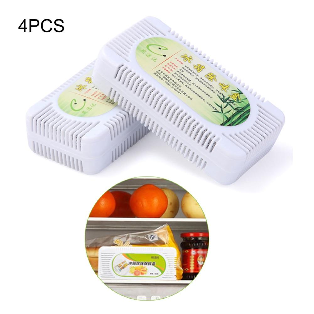 4 Uds desodorante refrigerador Natural eliminador de olores carbón absorbente de olores carbón activado bolsa purificadora de aire para el hogar