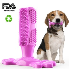 Cão escova de dentes de borracha escova de dentes de cão vara de limpeza pet mastigar brinquedos para cachorros de estimação