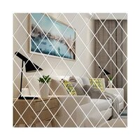 diy 3d mirror wall stickers diamonds triangles acrylic decorative wall mirrors stickers for living room decoration home decor
