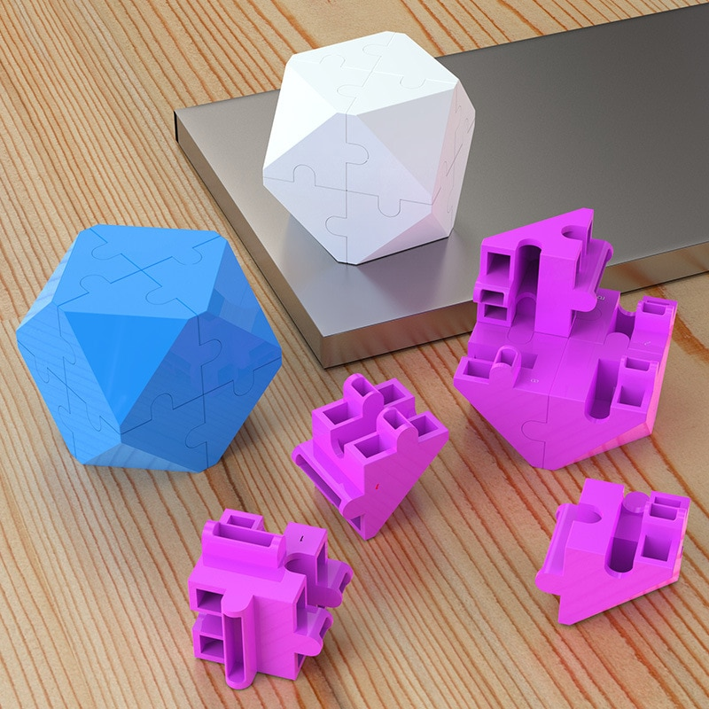 3D Intelligence Puzzle Decompression Colorful Cube Finger EDC Anxiety Stress Relief Blocks Kids Children Funny Toys enlarge