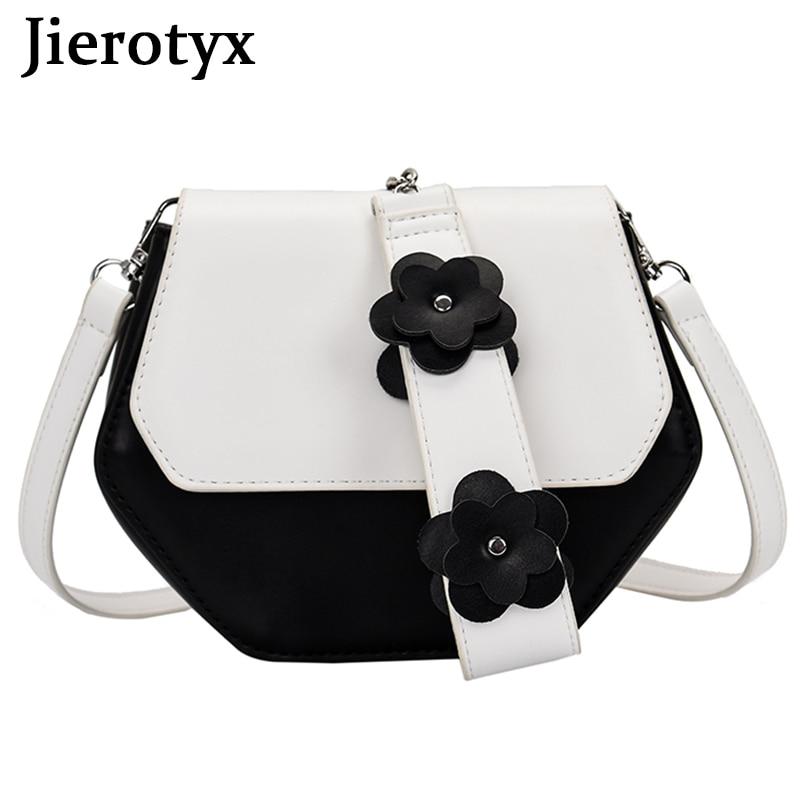 JIEROTYX كاندي الألوان الحلو نمط حقائب النساء الزهور تصاميم الموضة الإناث حقائب صغيرة Crossbody الأفوكادو الأخضر مختلط الألوان
