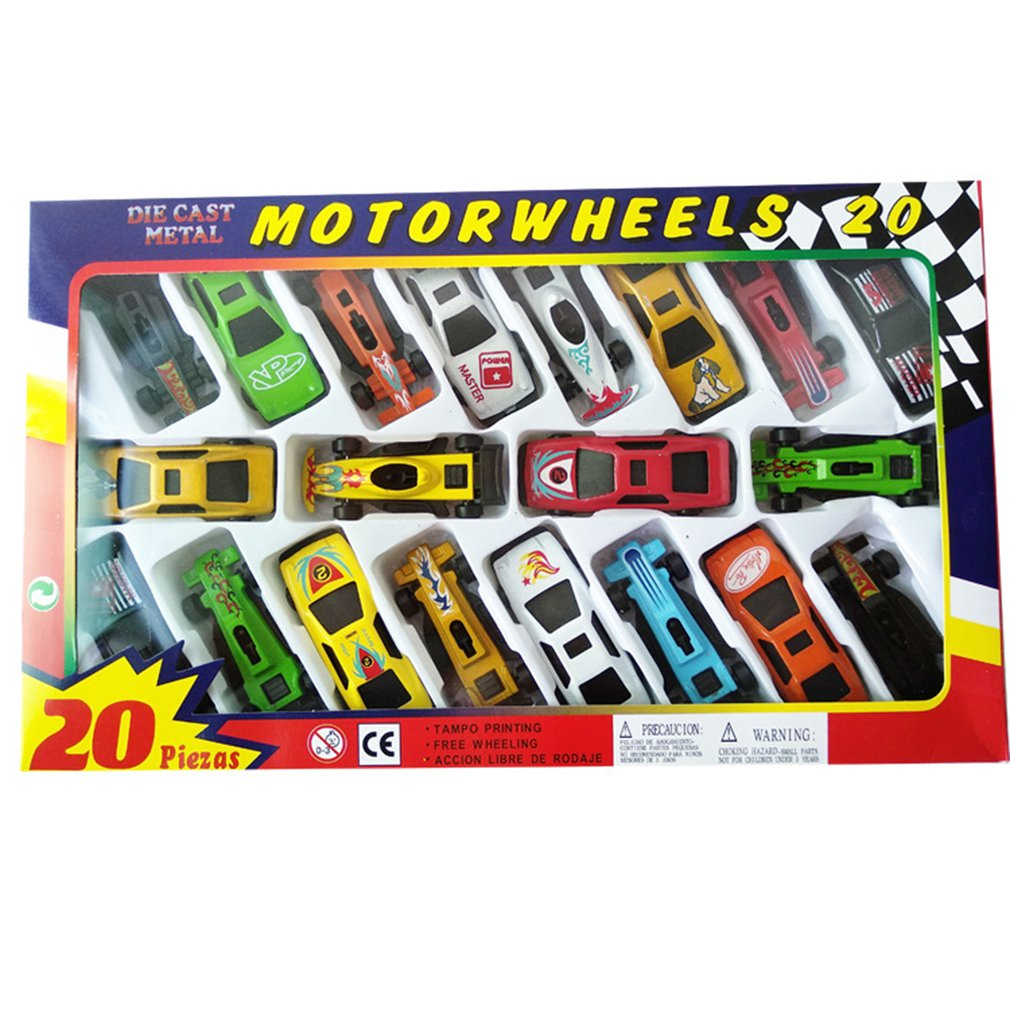 20pcs Childrens Toy Car Sports Model 1:64 Alloy Material Gift Suitable For Children