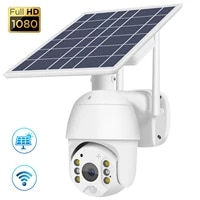 1080P HD Solar Panel Camera 2 4GHz Wifi PTZ Outdoor Monitoring Camera Smart Home Security Camera Two-way Voice PIR Alarm