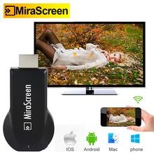 MiraScreen TV Dongle 1080P HDMI TV Stick беспроводной WiFi дисплей HD донгл приемник Miracast Anycast для IOS Android TV Airplay