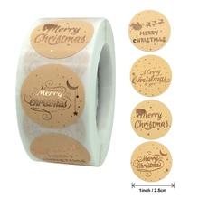 Rose Gold Frohe Weihnachten Aufkleber Sammelalbum 1 zoll 100-500 stücke Abdichtung Label Aufkleber Für Party DIY Verpackung Schreibwaren aufkleber