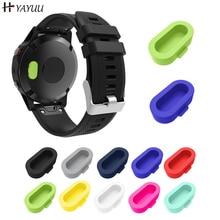 Yayuu 10 Uds. Enchufe antipolvo de silicona para Garmin Fenix 5S/5/5X/vivo activo 3/Forerunner 935 Smart watch tapones antipolvo para Fenix 5 GPS