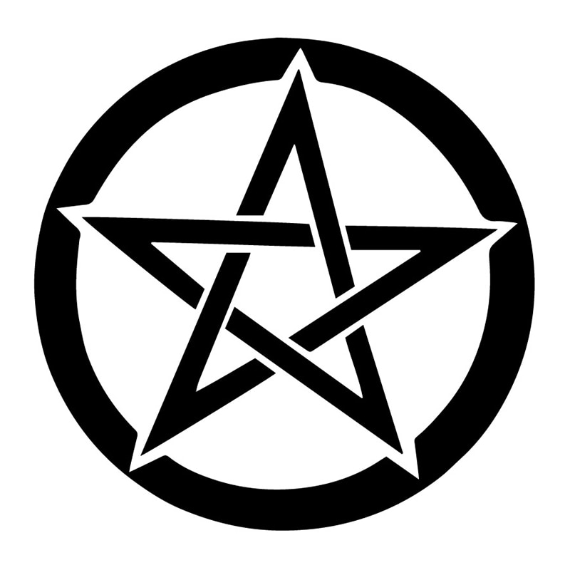 Five-pointed Star Symbolizes Fashion Bumper Car Sticker Pvc Personality Waterproof Sunscreen Decals Black/white/red/laser/silve