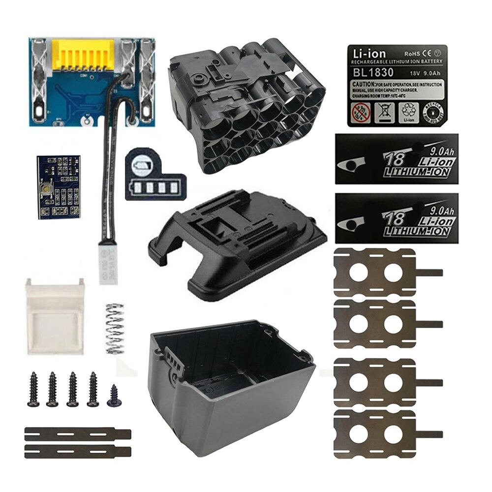 BL1890 чехол для аккумулятора PCB Защитная плата для зарядки корпус коробка для MAKITA 18V BL1860 9.0Ah 6.0Ah светодиодный индикатор литий-ионного аккумулят...