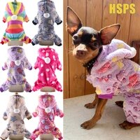 soft warm pet dog jumpsuits clothing for dogs pajamas fleece small puppy coat pet outfits hoodie clothing cats clothes christmas