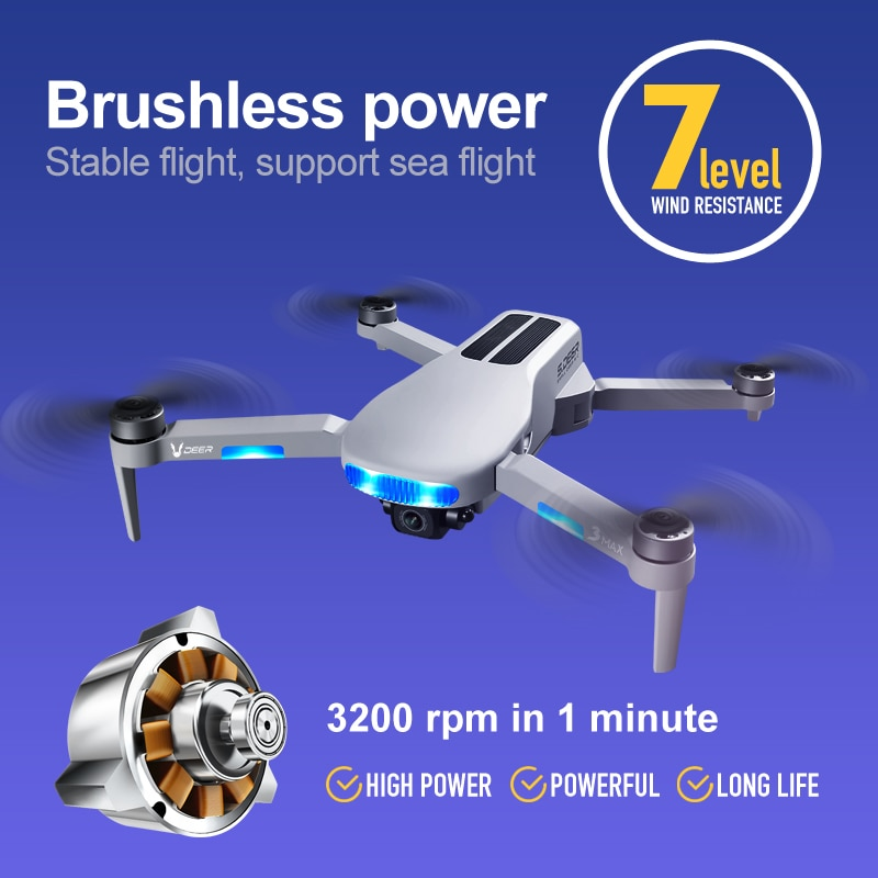 New LU3MAX Brushless 8K Camera Drone GPS Professional 5G WiFi FPV Long Distance 25mins Foldable Smart Follow RC Quadcopter Dron enlarge