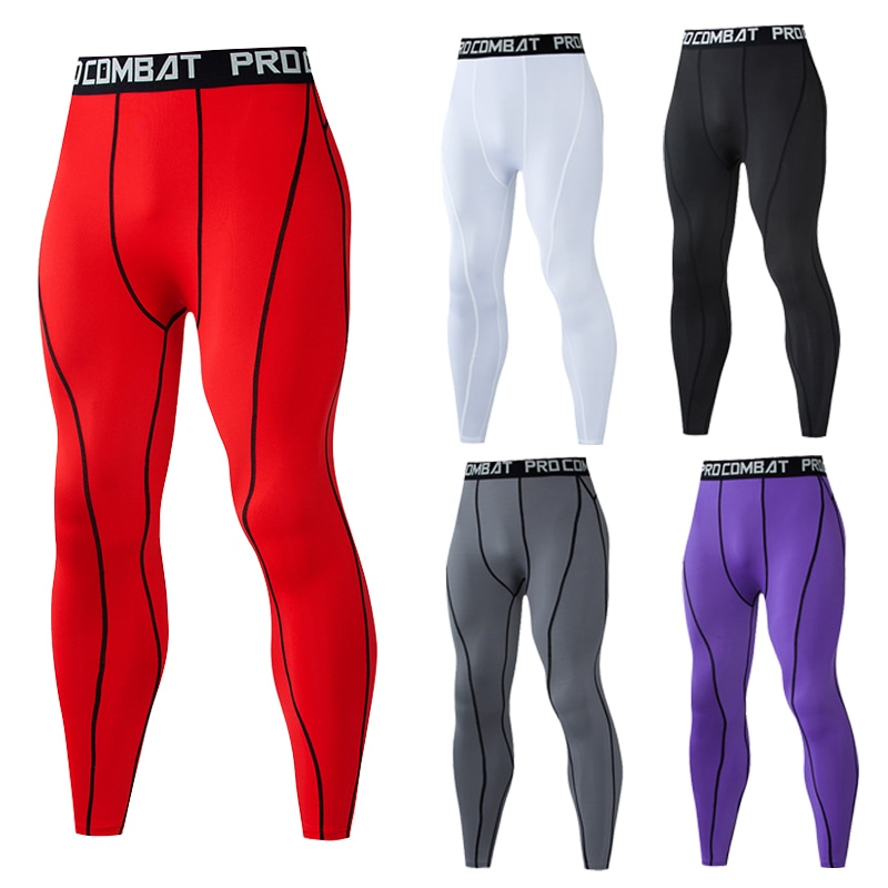 Фото - Men Compression Tight Leggings Running Sports Male Gym Fitness Jogging Pants Quick Dry Trousers Workout Training Yoga Bottoms men tights pants running training fitness sports leggings pocket gym jogging long sweat pants elastic breathable exercise pants