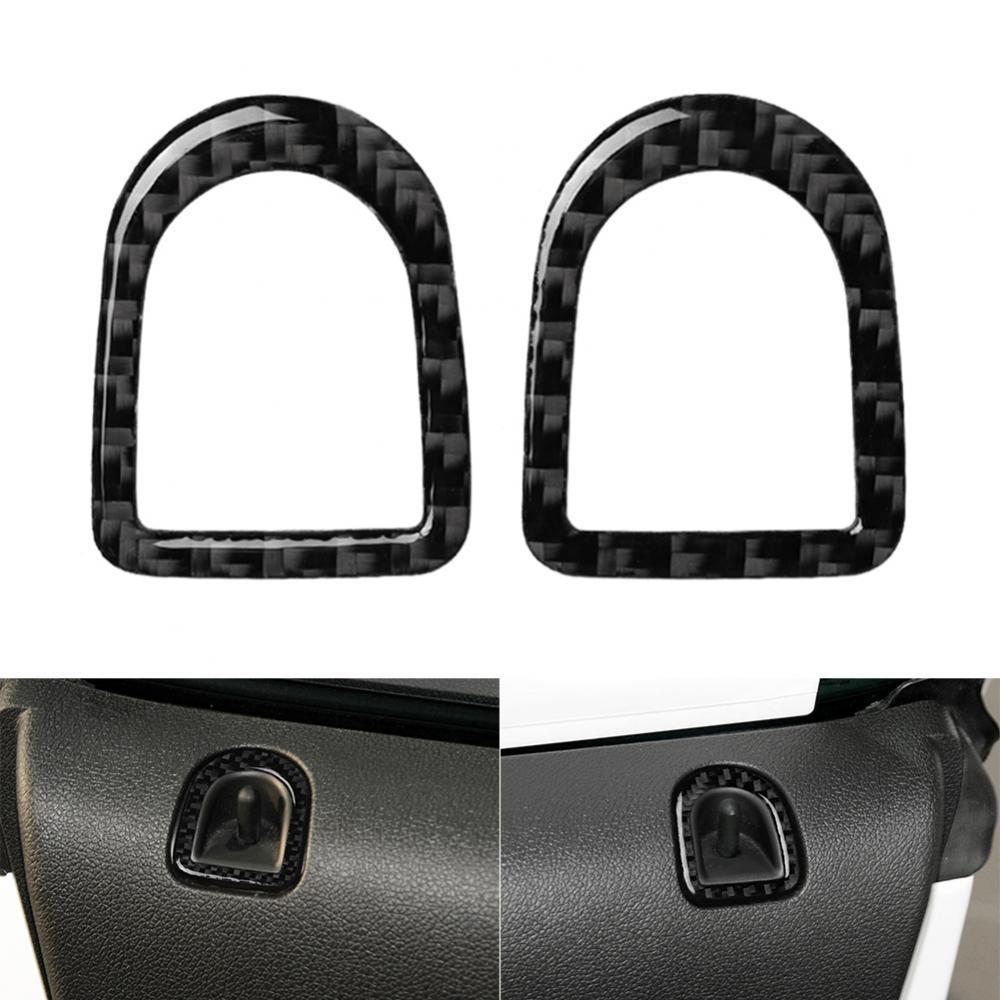 2Pcs Carbon Fiber Car Door Lock Pin Knob Frame Trim Cover for Ford Mustang 09-13 Car Accessories