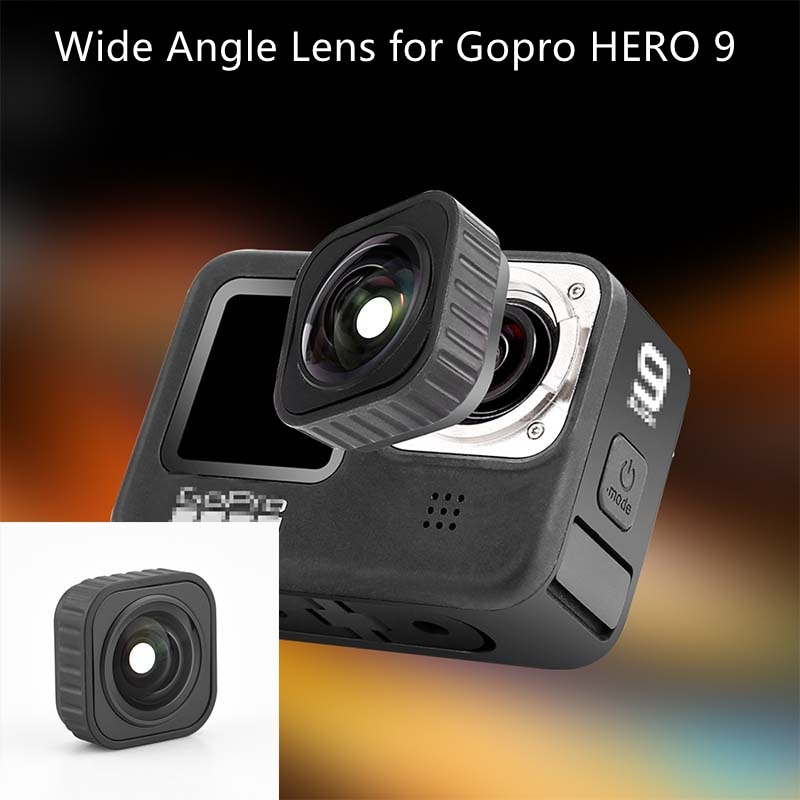 for Gopro HERO 9 Wide Angle Lens Optical Glass Lens Vlog Shooting Additional Lenses Action Camera Accessories