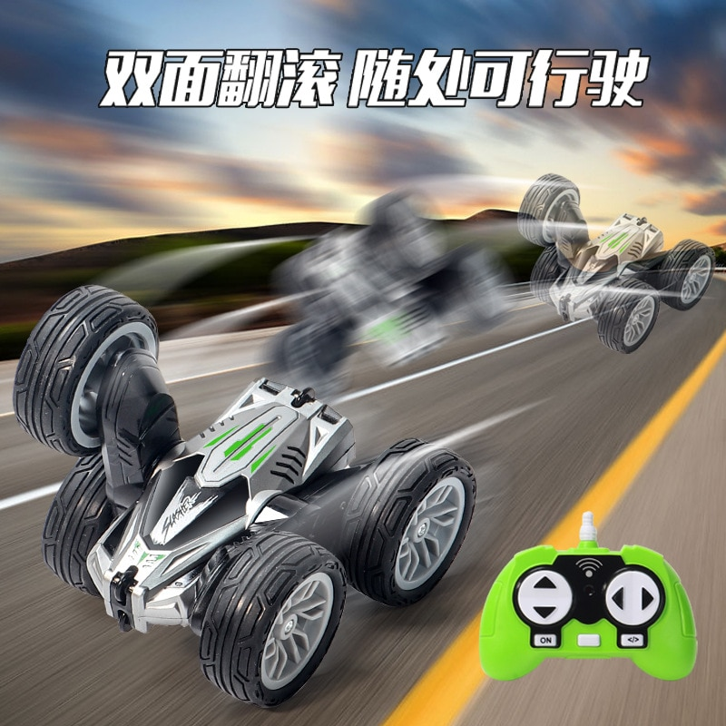 Toy High-speed Swing Arm Double-sided Stunt Car Tumble Rotating Children's Electric Remote Control Car Kids Gift enlarge