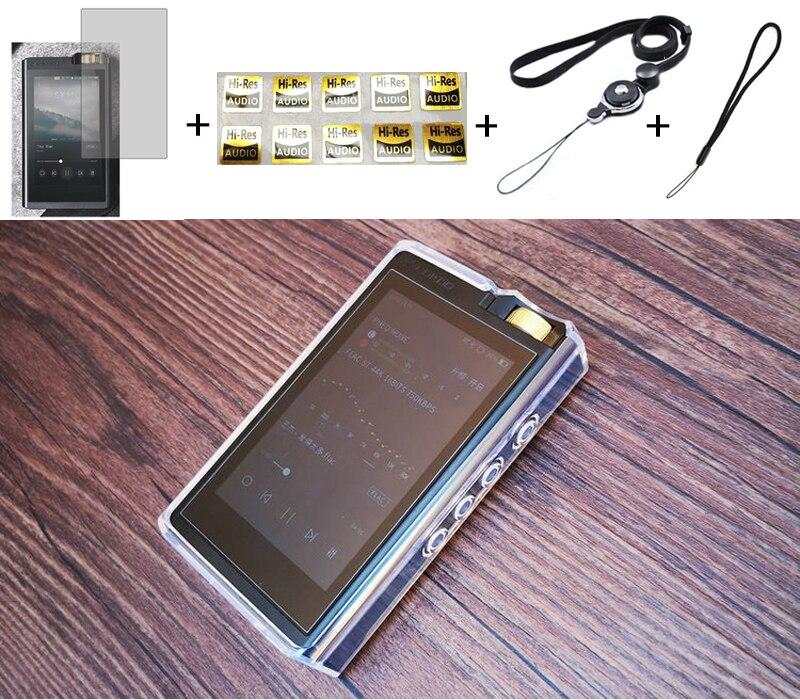 Funda protectora de cristal TPU transparente para Lotoo Paw Gold Touch con Protector de pantalla frontal de vidrio templado